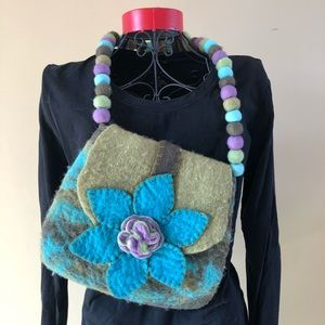 Beautiful felted purse